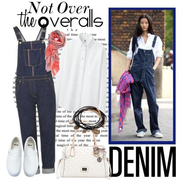 Denim Overalls Outfit Idea