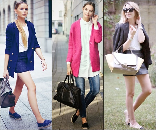 Espadrilles and Blazer Business Casual Office Wear