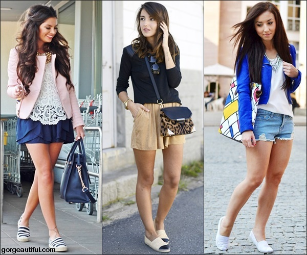 Espadrilles with Shorts Polished Look