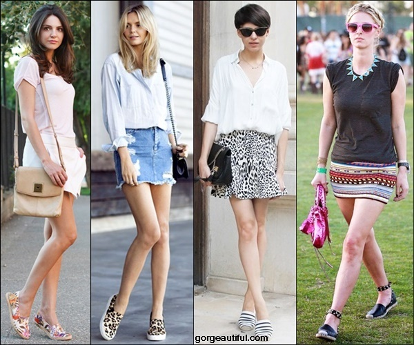 Flat Espadrilles with Skirt
