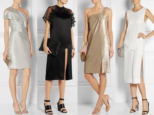 Net A Porter : Dion Lee One-shoulder Metallic Knitted Dress