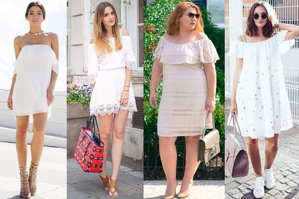 off-shoulder-little-white-dress-outfit-ideas