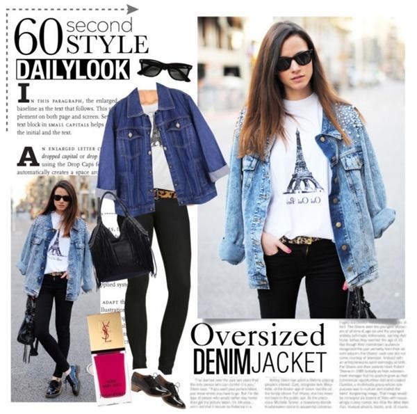 Oversized Denim Jacket Outfit Idea