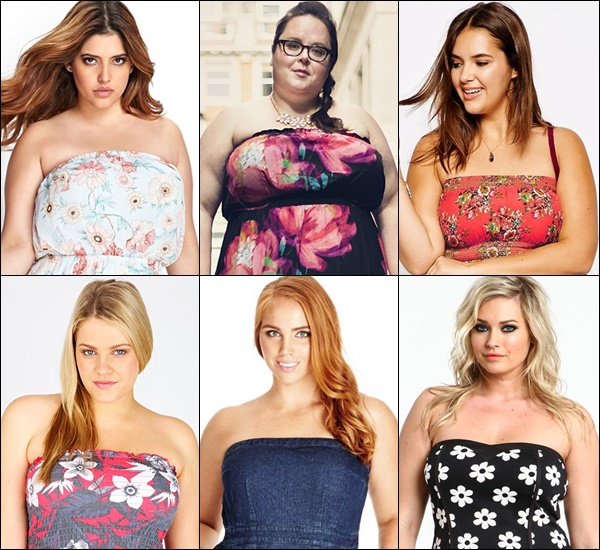 Plus Size Strapless Dress and Top