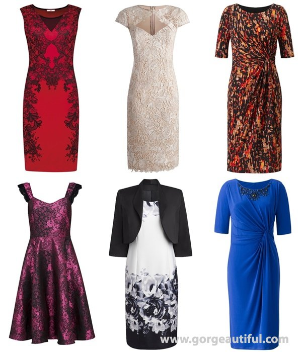 Plus Size  Wedding Guest Dresses Fall Winter 2015