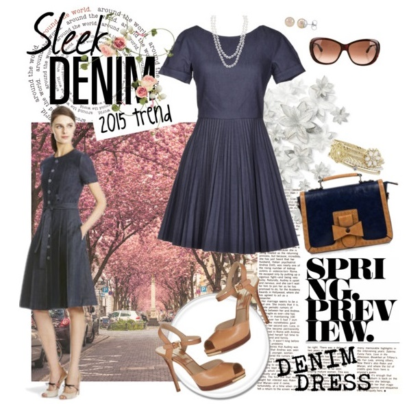 Summer 2015 Sleek Denim Dress
