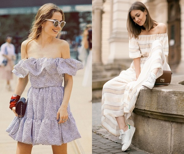 Ways to Wear Off-the-Shoulder Dress for Spring and Summer
